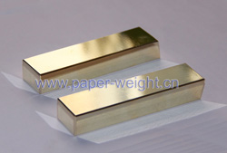 gold plated tungsten paperweights